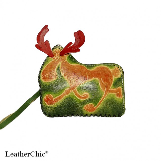 Large Size Coin Purse CP 136 Moose