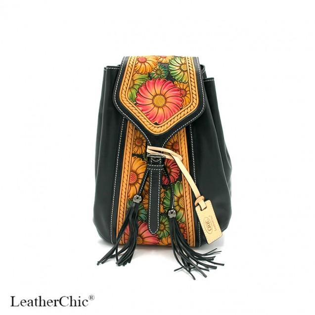 Hand Carved Backpack HB 904.2