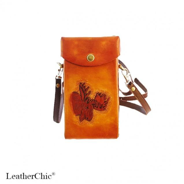 Hand Carved Cross-body Bag Moose HB 36