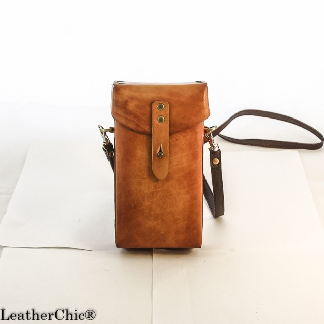 Hand Carved Cross-body Bag Plain Color HBP 01