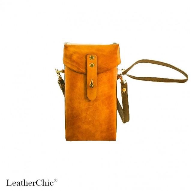 Hand Carved Cross-body Bag Plain Color HBP 01