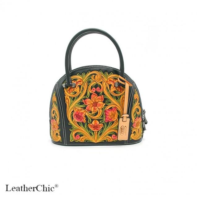 Hand Carved Large Size Handbag  HB 804
